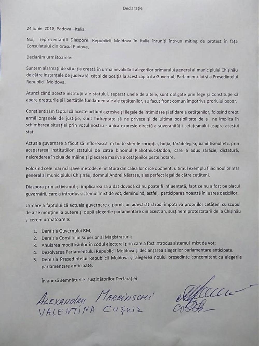 declarație Padova