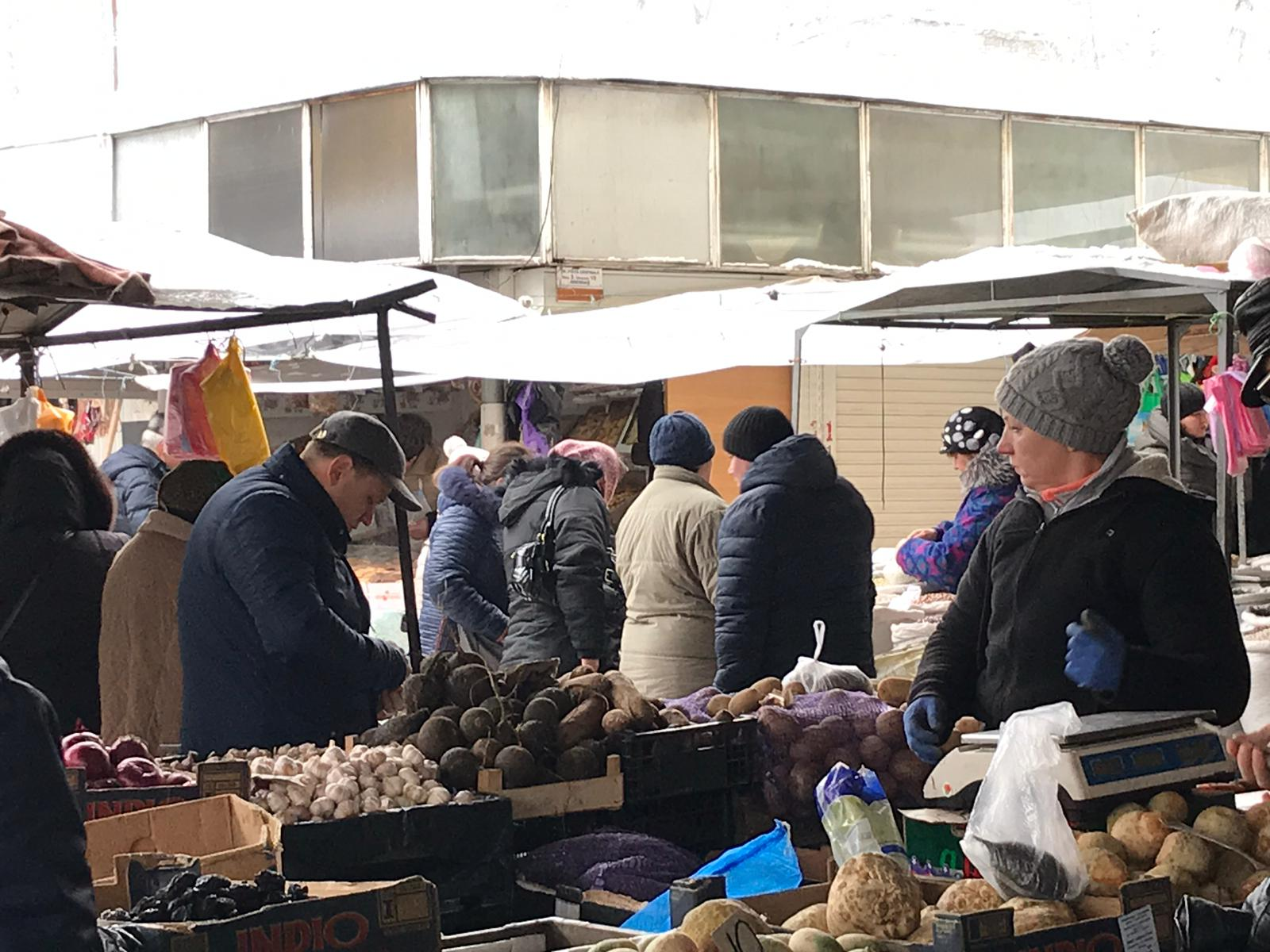 Năstase la piața centrală