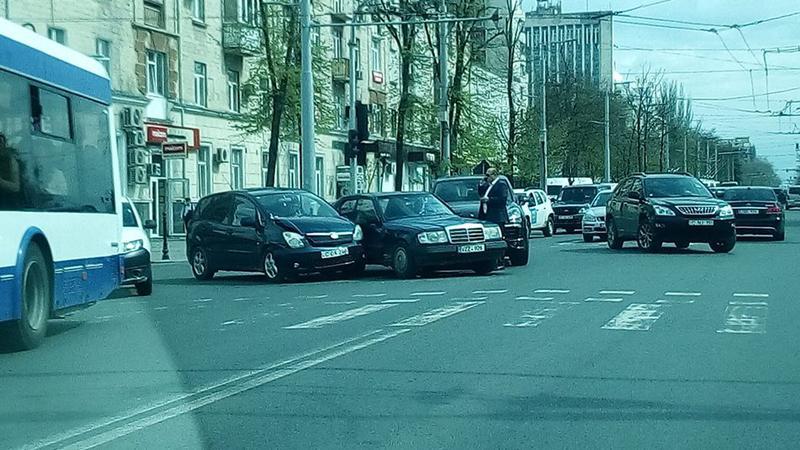 Accident centru | Sursa: facebook//Nicolae